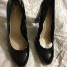 NEW Nine West Women's Black Patent Block Heel Pump - 9