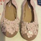 NEW Bloch Girls' Ballet Flat w/ Flowers - 35
