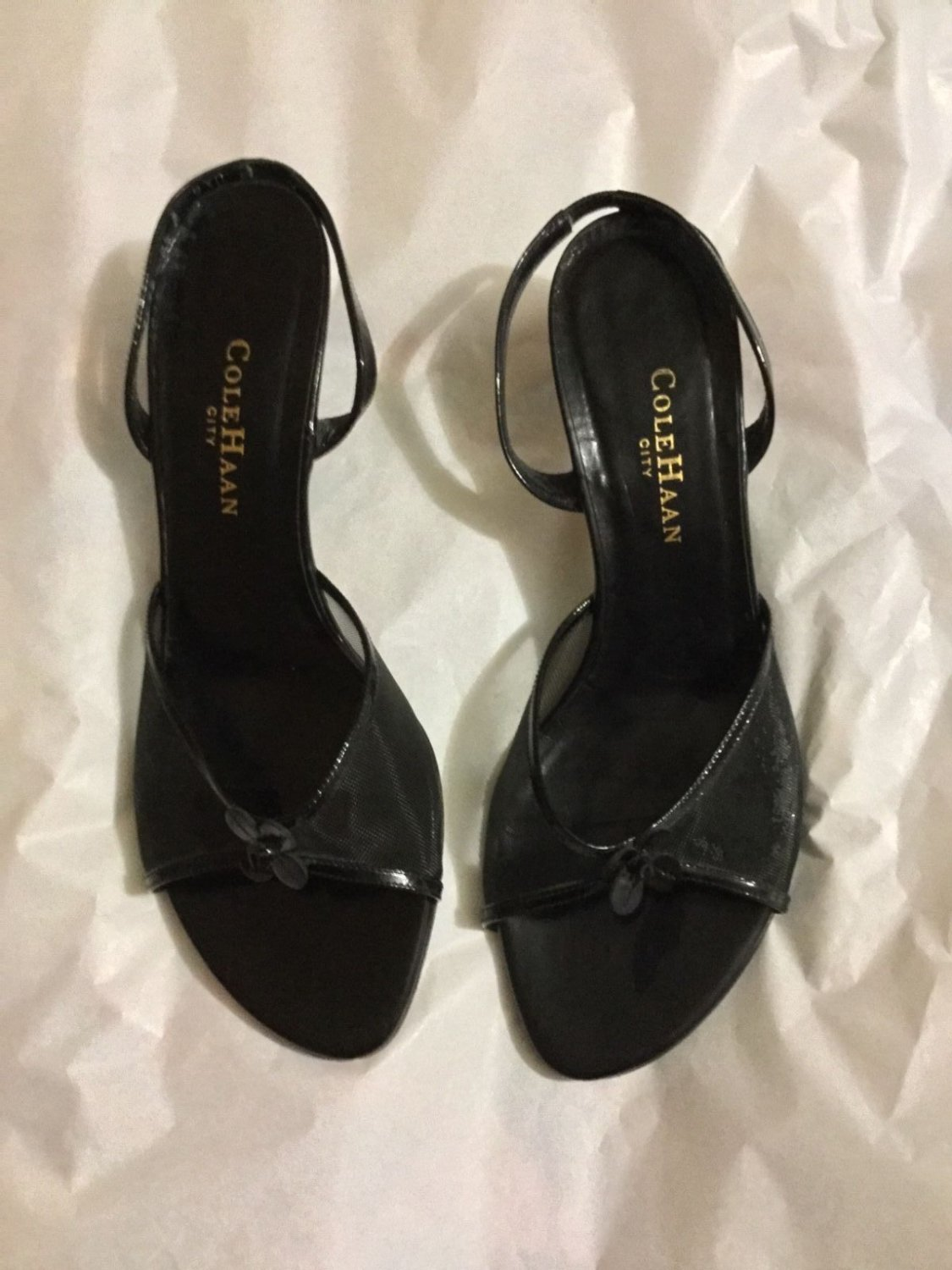 VG CONDITION Cole Haan City Open-Toe Slingbacks - 8.5