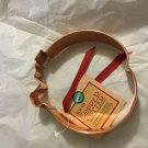 "NEW Wilton Solid Copper Pumpkin Cookie Cutter - 5""W"
