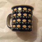 BOLESLAWIEC Zaklady Blue Kaleidoscope Large Coffee Mug/Cup