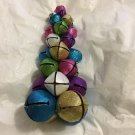 "UNIQUE Decorative Multi-Color Metal Jingle Bell Tabletop Christmas Tree - 13""T"