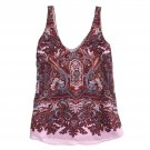 NEW J. Crew 100% Silk Iced Lilac Paisley Cate Cami Tank Top - 2