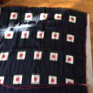 """EXCELLENT CONDITION  BVLGARI Silk Scarf w/ Lettering - 35"""" x 70"""""""