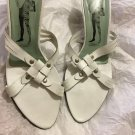 VERY GOOD CONDITION  Sigerson Morrison Belle White Mule Sandals - 7