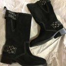 NEW Cole Haan Women's Black Suede Motorcycle Boots - 6M