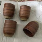 """EXC. CONDITION Set of 4 Studio Pottery Swirl Drinking Cups - 2.25""""W x 3.625""""T"""