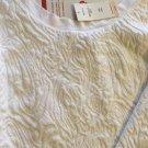 NEW Banana Republic White Crop Boxy 3/4-Sleeve Top - Petite M