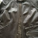 NEW Cole Haan Women's Brown Leather Moto Jacket - 12