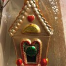 "NEW Department 56 Mercury Glass Hand Blown Candy House Christmas Ornament -7""T"