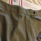 NEW Faconnable  Womens Wool Glen Plaid Flat Front Dress Pants - 16