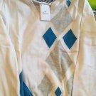 NEW Aquascutum Golf Womens 100% Cotton Argyle  Sweater - L