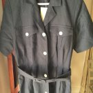 NEW Brooks Brothers Womens Navy 100% Linen Belted and Fully Lined Shirtdress - 8