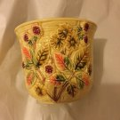 """VINTAGE Ceramic Flower Pot Made in Italy for Lord & Taylor - 5.5""""T x 6.25""""W"""