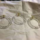 4 VINTAGE Venetian Glass Curtain/Drapery Tie Backs in Braided Rope Ring Design