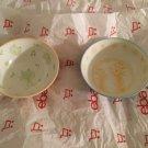 "NEW 2 Schen Children's Frog and Giraffe Pattern Rice/Noodle Bowls - 4"" Wide"
