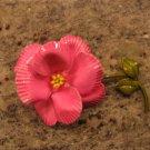 Vintage Pink Enamel Flower Brooch