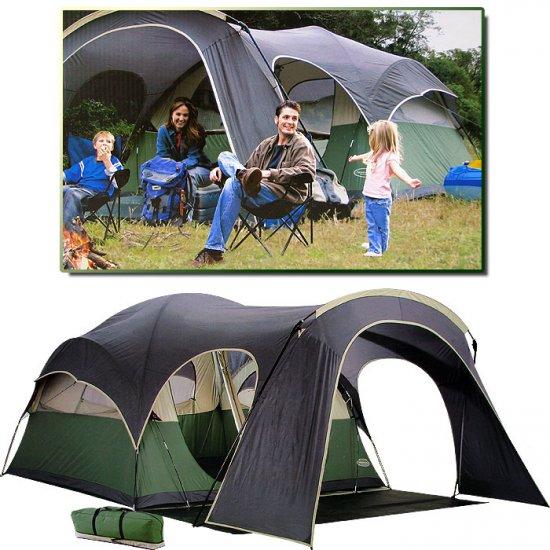 Northpole 2 Room Dome Tent With Canopy 6 Person 15 X 12 Ft