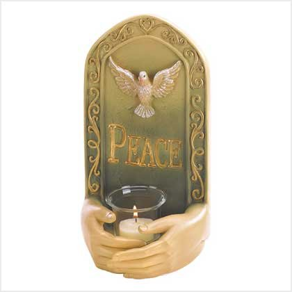 Peace Tealight Holder  Item:  38976