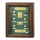History of Golf Shadowbox Clock  Item: 35175