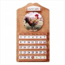 Rooster Clock and Perpetual Calendar  Item: 33772