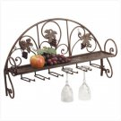 Metal and Grapes Wall Shelf/Wine Glass Holder  Item: 34277