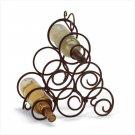 Wrought Iron Swirl Wine Rack   Item: 32405