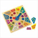 Wooden Clock And Numbers Puzzle   Item: 38927
