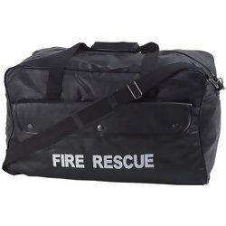 "Embassy Black Hand-Sewn Pebble Grain Genuine Leather 20"" Fire Rescue Duffle Bag  Item: LUFIRE"