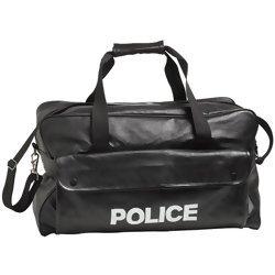 Embassy Black Hand-Sewn Pebble Grain Genuine Leather Duffle Bag  Item: LUPOLICE