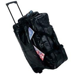 Embassy Italian Stone Design Genuine Leather Rolling Duffle Bag  Item: LULDBW2