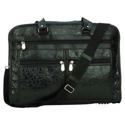 Embassy Italian Stone Genuine Leather Briefcase with Embossed Alligator Grain Design  Item: BCLBC3