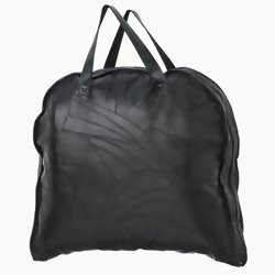 "Embassy Black 45"" Italian Stone Genuine Buffalo Leather Garment Bag  Item: LUBLGARM"