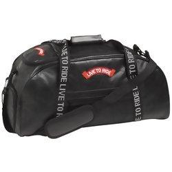 Diamond Plate Hand-Sewn Pebble Grain Genuine Leather Duffle Bag  Item: LULTRDUF