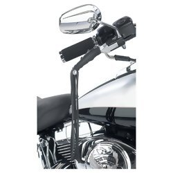 Diamond Plate Solid Genuine Leather Black Motorcycle Lever Covers  Item: GFLEVER