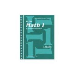 SAXON MATH 1 Home Study Teacher's Edition