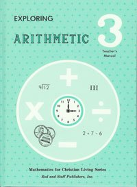 Rod And Staff Arithmetic Math 3rd Grade 3 Teacher's Manual