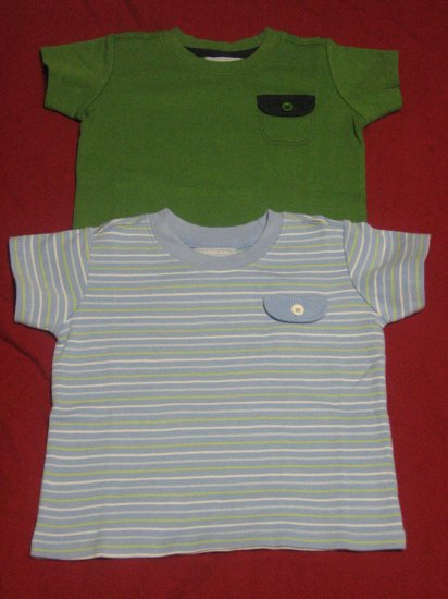 2 Lands' End Infant Baby Boy T Shirts 0-3 Months Newborn
