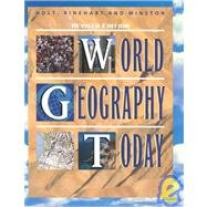 Holt World Geography Today Revised Test Generator for Windows