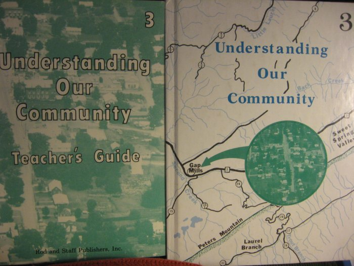 Rod And Staff Understanding Our Community Grade 3 Teacher Student Set