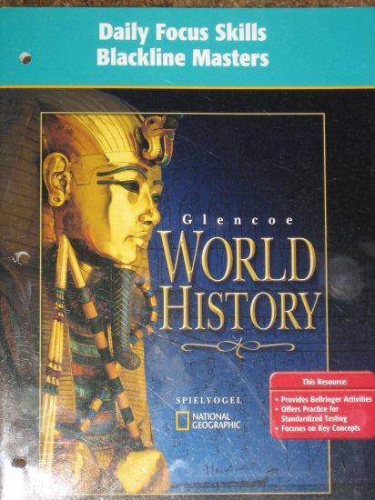 GLENCOE World History Daily Focus Skills Blackline Masters BOOK