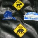 4 Alaska Magnets Denali Moose Bear Salmon Alaskan