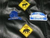 4 Alaska Magnets Denali Moose Bear Salmon Alaskan