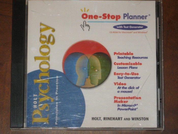 Holt Psychology  One-Stop Planner Test Generator CD-ROM