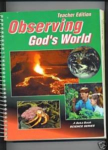 Abeka A Beka Observing God's World Science Grade 6 TE Teacher Edition Student Bundle