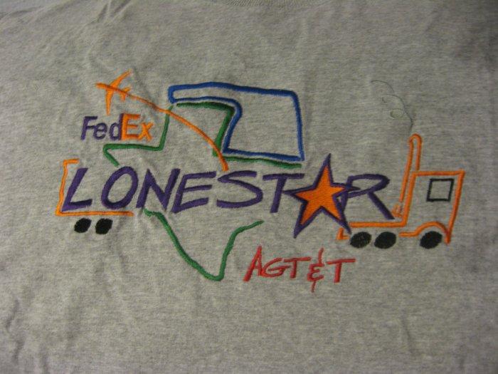 FedEx Lonestar Texas AGT&T Gray Stitched T-Shirt XL XXL