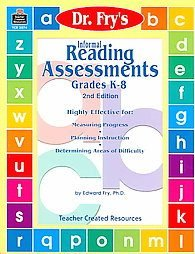 Dr Fry's Informal Reading Assessments Grades K-8 2nd Ed Book
