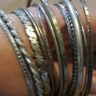 Bargain! ALL 12 Silvertone Bangle Bracelets