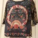 Venezia Hippie Print Sheer Long Sleeve Tee 14/16