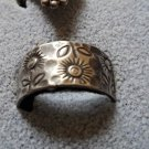 Vintage Sterling stamped sunflower band size 9